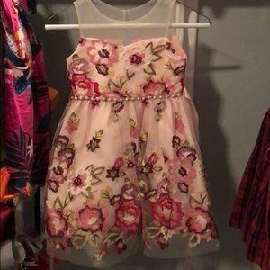 Pink Flowered Girl's Dress